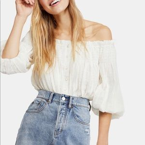 FREE PEOPLE | Off the Shoulder Peasant Top